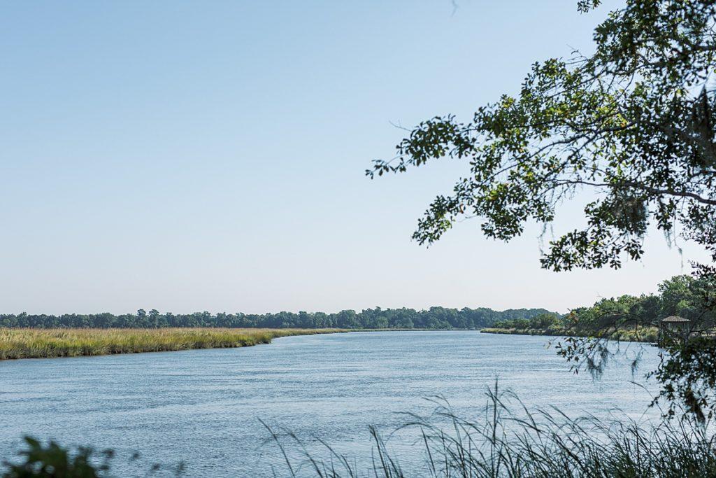 View of river from Charleston wedding venue Runneymede Plantation