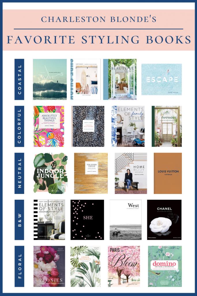 Books for styling bookshelves graphic