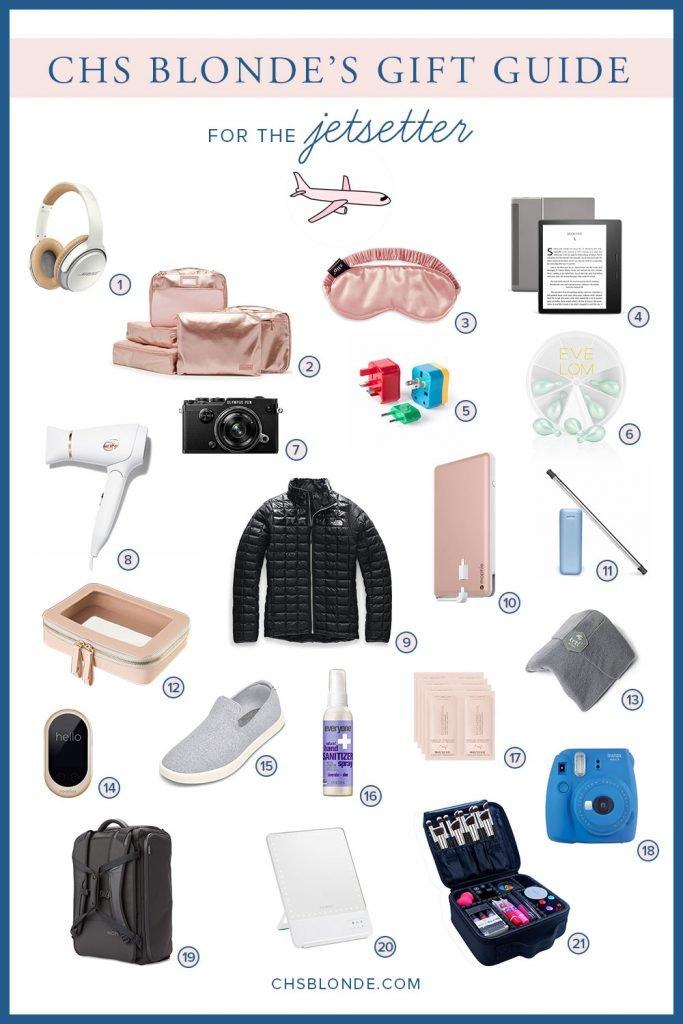 Gift Guide for a jetsetter. Travel Gift Guide.