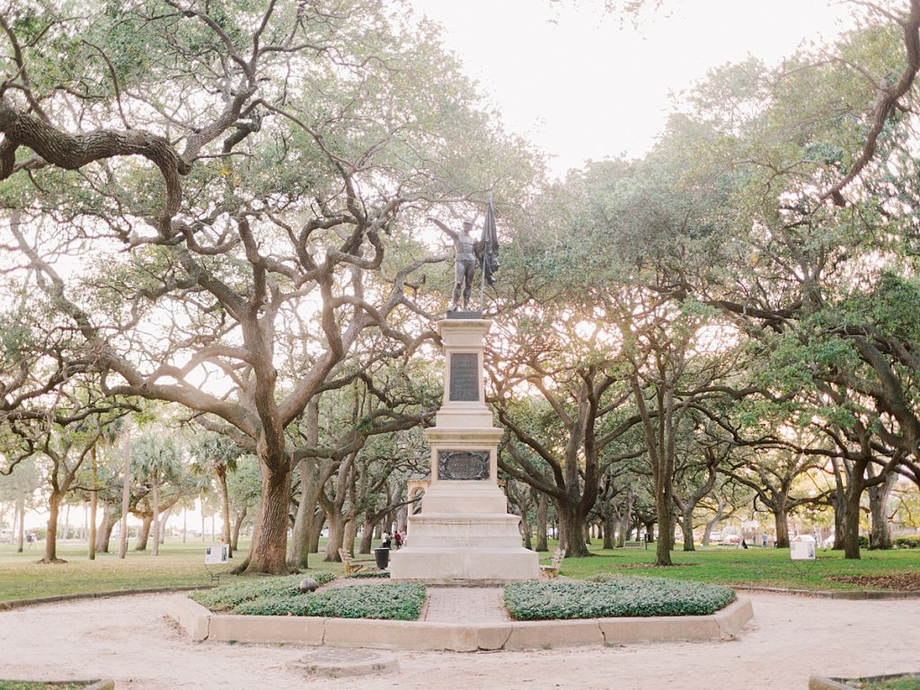 Statue in White Point Gardens, near the Battery in Charleston