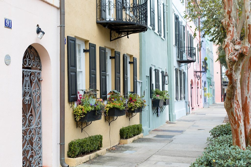 Rainbow Row Houses Charleston Bucket List