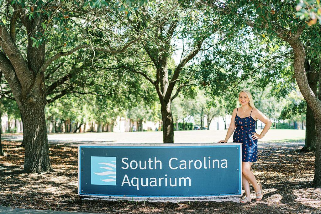 South Carolina Aquarium Sign