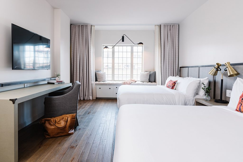 Double room at The Alida Hotel, a boutique hotel in Savannah, GA