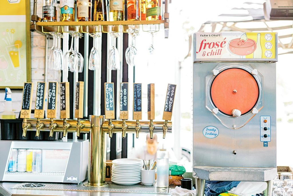 Frosé machine at Farm and Craft in Phoenix