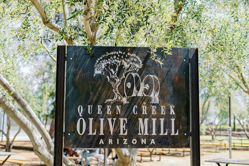 Queen Creek Olive Mill sign